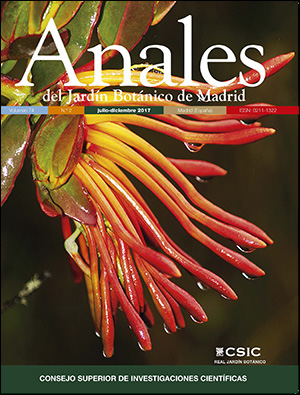 Vol 74 no 2 2017 for Anales del jardin botanico